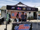 Photo of KATJ Radio Station booth broadcasting Live